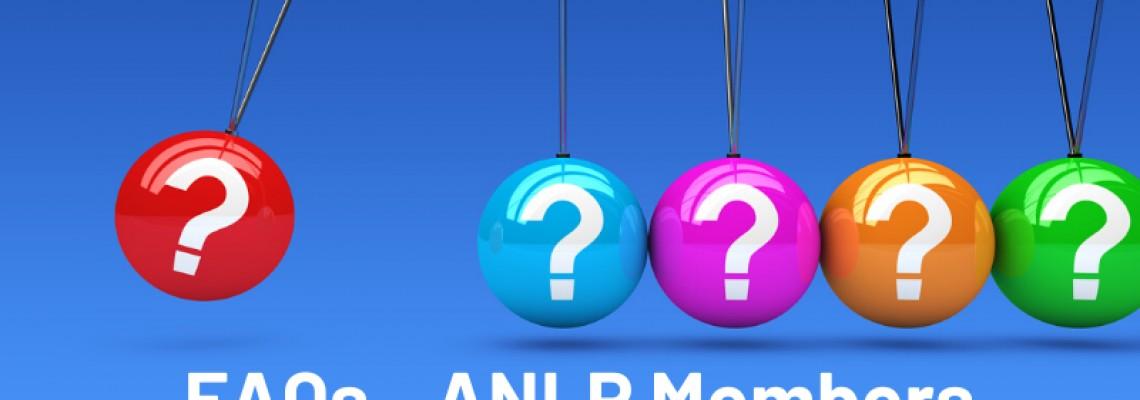 FAQs for ANLP Members