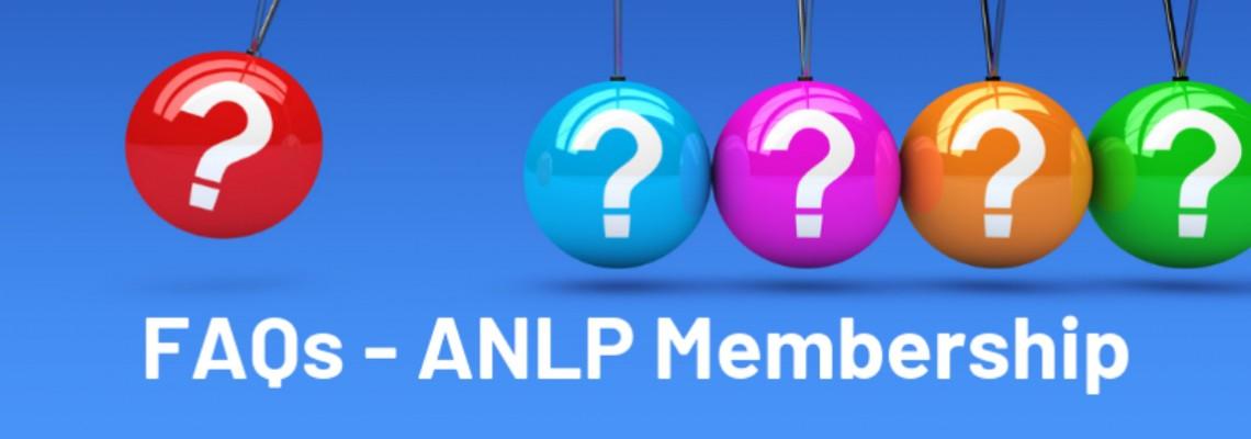 FAQs relating to ANLP Membership