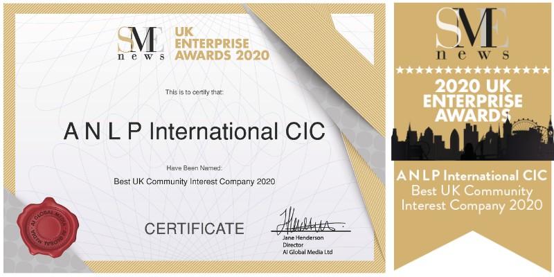 ANLP wins Best UK Community Interest Company 2020